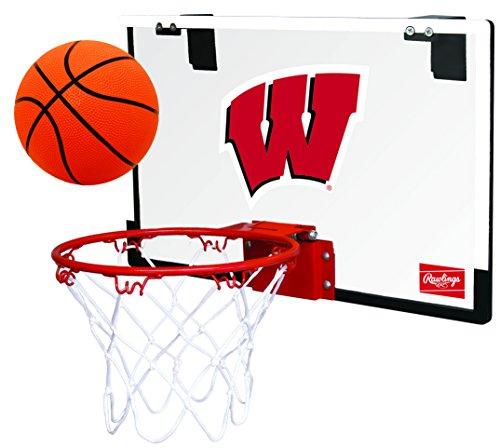 Rawlings NCAA Game On Polycarbonate (PC) Mini Basketball Hoop Set, Wisconsin Badgers