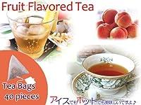【本格】紅茶 ほんのり香るピーチ・フルーツ・フレーバード・ティーバッグ 40個
