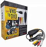 FONCBIEN Convertitore VHS in Dvd, USB 2.0 Audio Video Grabber Convertitore,Videoregistratore VHS/Capture Grabber Video USB per Windows 10/8/7