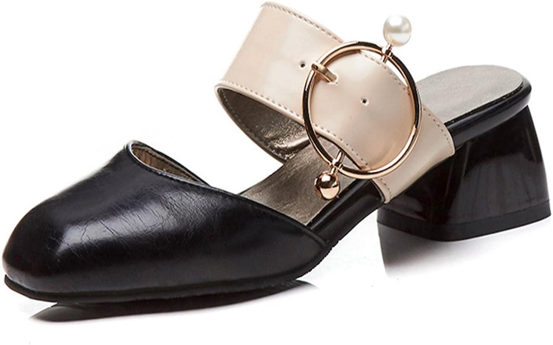 Women's Sandals Summer Sandals Fashion Square Head Female Sandals Large Size Women's shoes Baotou Women's shoes Slippers