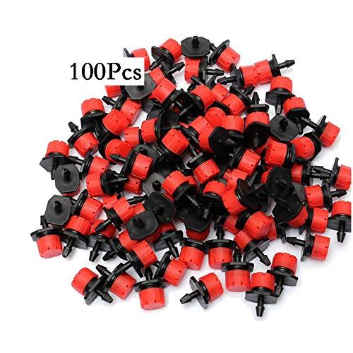 100x Micro Goutteur Mini Pression Jardin Arrosage Druckreguliert Rouge 4L//H