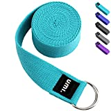 Umi. by Amazon - Cinturón para yoga con libro electrónico de regalo, 2,4 m (azul cielo)