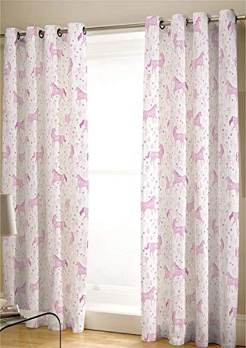 Catherine Lansfield Folk, diseño de Unicornio, Color Rosa, Tela, Rosa, 27 x 3 x 37 cm