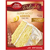 Betty Crocker Baking Mix, Super Moist Cake Mix, Lemon, 15.25 Oz Box