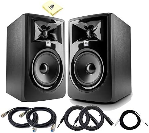 JBL 305P MkII Pair 5 Inch Powered Studio Monitor 82W 2 way Studio Reference Speakers Set with product image