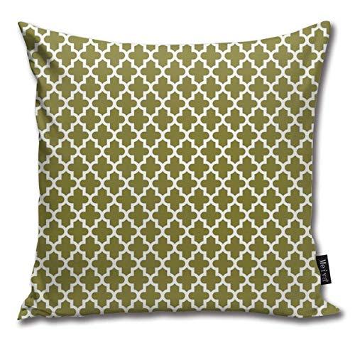 Fundas de cojín marroquíes de color verde oliva para el hogar, fundas de almohada decorativas para salón, sofá, dormitorio, coche, 45,7 x 45,7 cm
