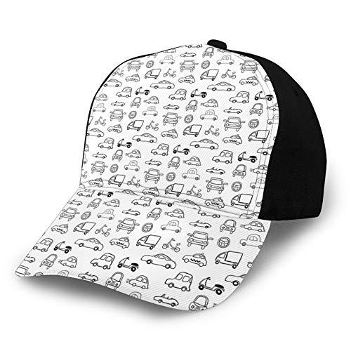 Gorra de béisbol de bajo perfil ajustable para hombre y mujer, diseño de bosquejo infantil