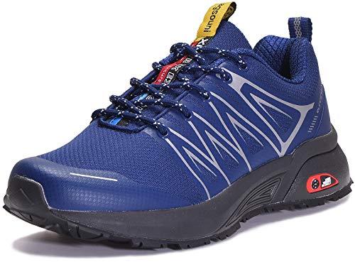 Eagsouni Laufschuhe Herren Damen Traillaufschuhe Sportschuhe Turnschuhe Sneakers Schuhe für Outdoor Fitnessschuhe Joggingschuhe Straßenlaufschuhe, Blau D, 41 EU