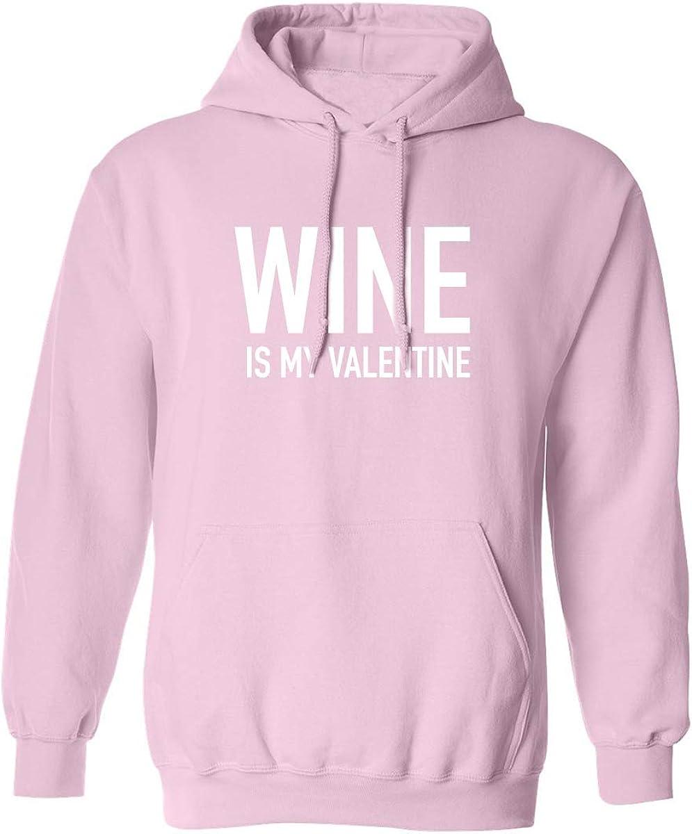 zerogravitee Wine is My Valentine Adult Hooded Sweatshirt