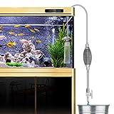 Laelr Fish Tank Cleaner, Acquario Acqua Changer Ghiaia Filtro dell'acquario sifone a Vuoto della Pompa ad Acqua Modifica Sabbia Lavaggio (Grigio)