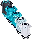 Nautica Boys' Newborn Five-Pack Bodysuits