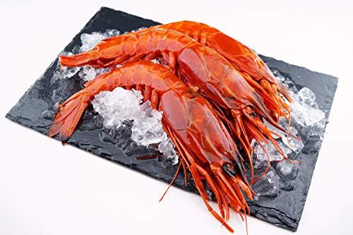 Carabineros - Rote Riesengarnelen - great red shrimp / ganze Garnelen / roh / Wildfang / Westlicher Indischer Ozean / 800g Box