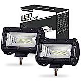 LED Light Pods, OFFROADTOWN 2 pcs 5'' 144w LED Light Bar OSRAM Flood Beam Fog Lights Waterproof Driving Light for Off road, Heavy Duty, UTV, Truck, ATV, SUV, Jeep
