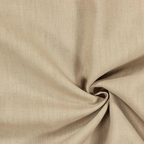 Fabulous Fabrics Leinenstoff mittelschwer, beige – Leinenstoffe zum Nähen von Leinenhosen, Freizeithemden, Leinenkleider und natürliche Dekoration - Meterware ab 0,5m