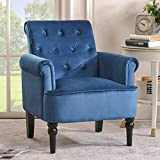 29'' Wide Tufted Velvet Armchair, Classic Design: Our Button Tufted Back Accent Chair has The Elegant Design which can Advance Your Home Decor Style, 20'' H x 20'' W x 20'' D