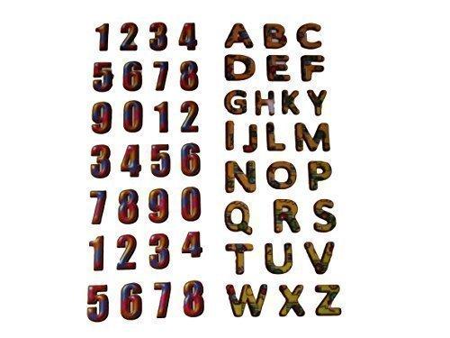 2 x petites feuilles de 3D puffy numéro, lettres, alphabet, numérique Autocollants pour les enfants, filles, garçons, artisanat, albums de découpures, fabrication de carte, cadeau sacs de graisse-catz-copie-catz