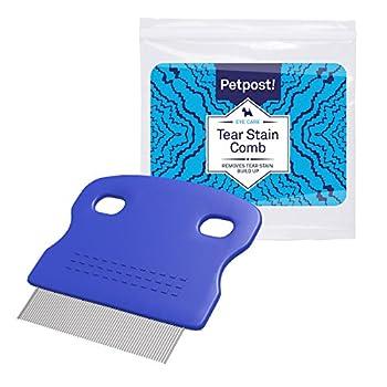 Petpost | Peigne Anti-Taches pour Chiens - Peigne à Dents Extra Fines Qui enlève doucement et efficacement Les croûtes, Mucus et crasse Autour de l'oeil de Votre Shih Tzu ou Maltais