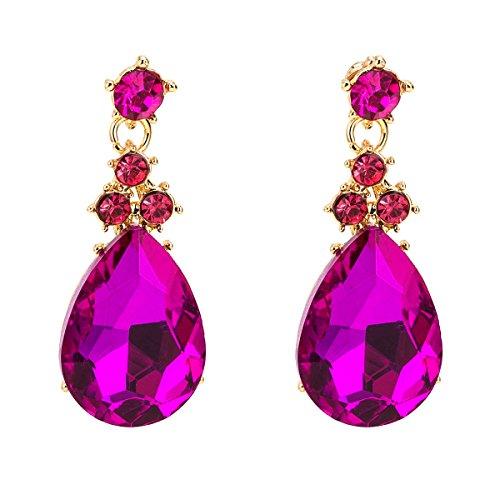 Europa y los Estados Unidos grandes pendientes de moda de diamantes de múltiples capas en forma de gota con forma de gota, estilo bohemio