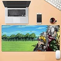 大型マウスパッド パソコン周辺機器 アニメ ナルト マウス マウスパッド キーボードパッド 超防水 ノンスリップ 1200×600×3mm-A_1200X600mm