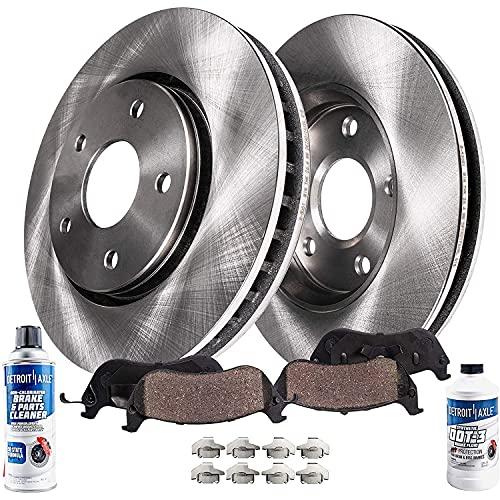 Detroit Axle - Front Disc Brake Rotors + Brake...