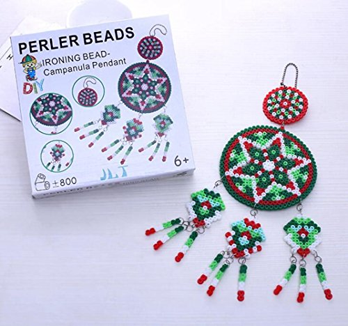 Perler Beads Fuse Beads Craft DIY-Tweezer,Peg Boards,Ironing Paper,Color Paper,Accessories-Jigsaw Puzzle Craft Windbell Christmas Gift(Multi Color)