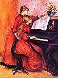The Piano Lesson by Pierre Auguste Renoir - 20' x 25' Premium Canvas Print