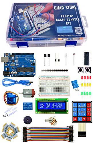 Quad Store(TM) - Project Basic Starter Kit with Uno R3 for Arduino beginners kit