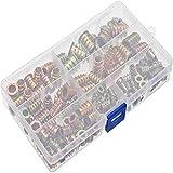 Youery 130 Pezzi Dadi Esagonali in Lega di Zinco Dado di Inserto Filettato Legno Kit Assortimento M4 M5 M6 M8 M10 Utilizzato per Assemblare Maggior Parte dei Mobili in Legno