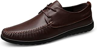 Men's Business Oxford Perfunctory Simple Comfy Soft Round Toe Lace Three-dimensional Formal Shoes casual shoes (Color : Brown, Size : 46 EU)