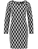 Taifun Damen 281019-19678 Kleid, Mehrfarbig (Schwarz Gemustert 1001), 34
