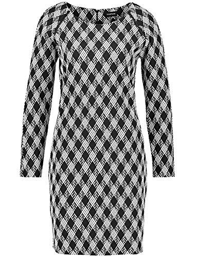Taifun Damen 281019-19678 Kleid, Mehrfarbig (Schwarz Gemustert 1001), 40