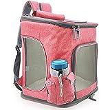 JYDT Bolsa para gatos, bolsa de transporte, bolsa de hombro, mochila para mascotas, espalda de gato, perro, gato, gato, jaula universal (color: beige)