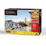 University Games- Games National Geographic Tower Bridge 3D Puzzle, Multicolor, 120 pcs (7655)