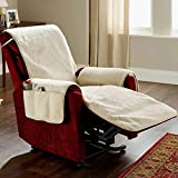 HP95 Poly-Fleece Recliner Furniture Protector Cover with 4 Pockets, Slipcovers for Recliner, Recliner Chair Cover, Soft and Warm Pet Sofa Cover for Dogs and Children,190cm x 65cm x170cm