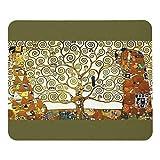グスタフ・クリムト『 生命の樹 』のマウスパッド:フォトパッド(世界の名画シリーズ) (濃緑地)