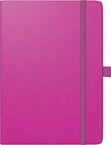 BRUNNEN 107916626 Buchkalender Modell 791 Kompagnon (2 Seiten = 1 Woche, 14,8 x 21,0 cm, Baladek-Einband, Kalendarium 2020) pink