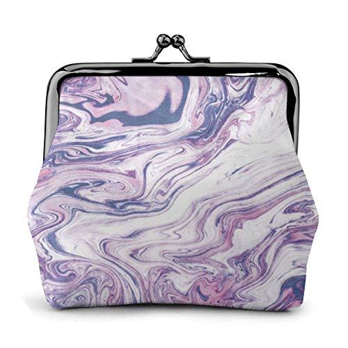 Dunkelviolette Textur Marmor stilvoll und praktisch Lederwechsel, ein Geschenk für Frauen.