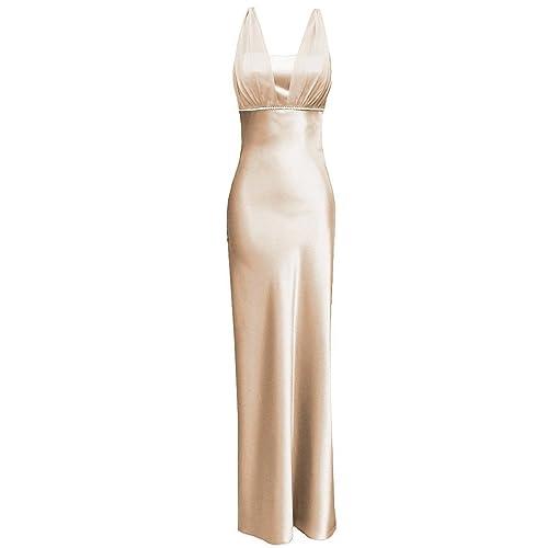 9758f6ce2 Satin Chiffon Holiday Bridesmaid Long Formal Gown Crystals Junior Plus