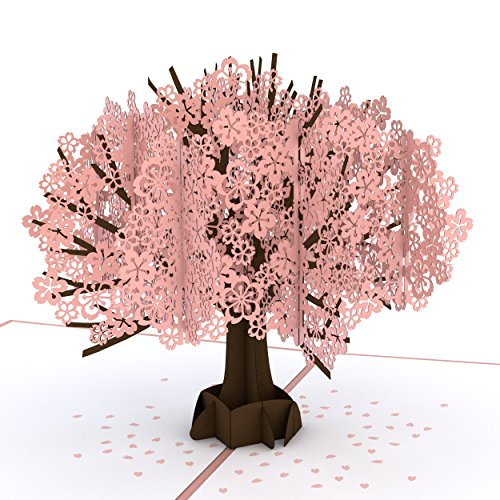 Lovepop Cherry Blossom Pop Up Card - 3D Card, Mother�s Day Card, Pop Up Mother's Day Call, Card for Wife, Card for Mom, Anniversary Pop Up Card, Spring Card, Greeting Card Pop Up, Pop Up Birthday Card