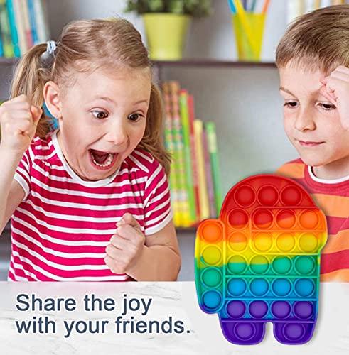 UK-STOCK | Push Pop Up Fidget Toy, Fidget Toys Set for Kids & Adults, Bubble Popper Fidget Toy Stress Relief Toys for Autism Special Needs F