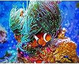 Punto de cruz Kit Bordados para niños y adultos,Monstruo de algas,16 x 20 pulgadas DIY costura punto de cruz set decoración de pared principiante(11CT)