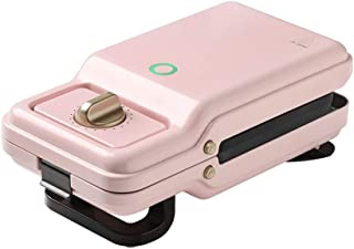 600W Våffla Smörgås Maker Elektrisk Panini-pressmaskin Non-Stick Djupa Matlagningsplattor (Color : Pink)