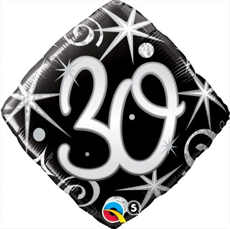 nero argento bianca Btuttioons & Decorations QUALATEX NERA & argentoO ELEGANTE SCINTILLE & Vortici 30° COMPLEANNO 18   Ptuttioncino rivestito