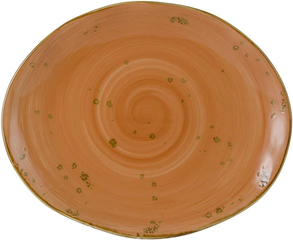 Tuxton Artisan Dedication Geode Coral 13-1 5% OFF x 4-Inch Platter 11-Inch