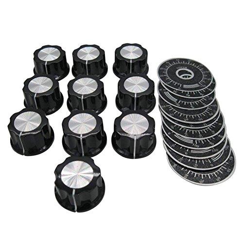 Taiss/10 perillas de control de potenciómetro con botón
