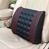 12V Car Electric Massage Cushion Lumbar Massage, Car Seat Back Support Waist Cushion, Lumbar Relaxation Devices, Car Waist Pad Pillows for Driver Car Cushion Relieve Body, Dacron + Cotton