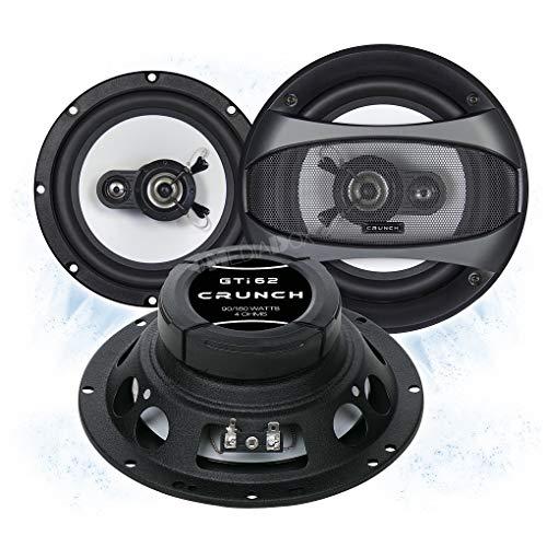 Crunch GTI62 Front/Heck 16,5cm/165mm 2-Wege Koax Auto Lautsprecher/Boxen/Speaker kompatibel für Toyota