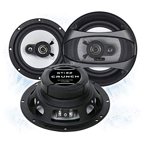 Crunch GTI62 Front/Heck 16,5cm/165mm 2-Wege Koax Auto Lautsprecher/Boxen/Speaker kompatibel für Nissan