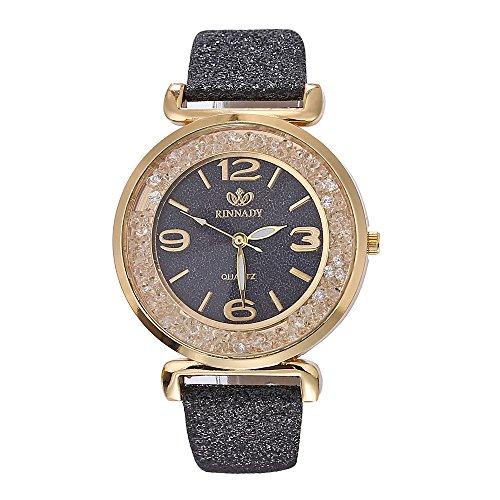 Damen Armbanduhr Strass Armband Classic Quarz Edelstahl Armband Treibsand Zifferblatt Quarzuhr Analog Leder Beobachten 2019 Neu LEEDY