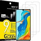 NEW'C 3 Unidades, Protector de Pantalla para Huawei P30 Lite, Nova 4e, Antiarañazos, Antihuellas, Sin Burbujas, Dureza 9H, 0.33 mm Ultra Transparente, Vidrio Templado Ultra Resistente